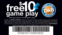 FREE $10 Game Play - Dave and Buster's Orlando, Florida