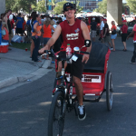 Redi Pedi pedicab drivers have fun and earn income in Jacksonville, Florida.