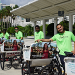 A team of pedicab drivers at the Orange County Convention Center.