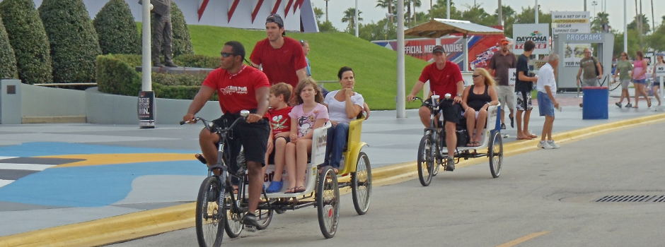 Redi Pedi Pedicabs at the Daytona International Speedway