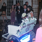 Redi Pedi picks up the bride and groom from the Ballroom at Church Street in Orlando, Florida.