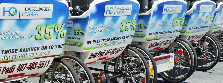 Headquarter Honda Pedicabs at the Hispanic Business Expo