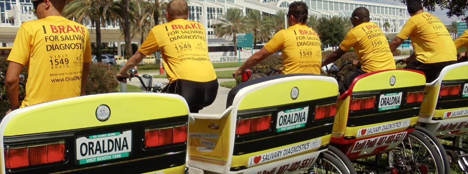 ORAL DNA created an exhibited at the ADA show and sponsored Redi Pedi pedicabs to stretch their marketing reach.