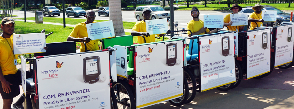 Pedicabs at the Orange County Convention Center