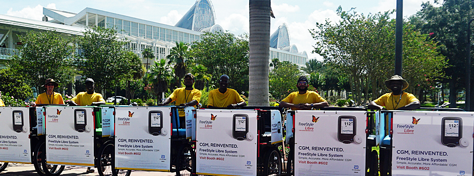 Pedicabs at at the South Concourse of the Convention Center.