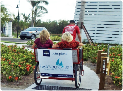 Harbour Isle in Anna Maria Sound, Florida used Redi Pedi pedicabs for their open house and tour.
