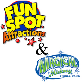 Attention Race Fans! You drive the ride in multi-level elevated tracks with corkscrew turns at Magical Midway and Fun Spot Action Park. Includes a Go-Kart Armband at Fun Spot Action park with all day riding privileges and a 3-hour unlimited Go-Karts and rides at Magical Midway. (age & height restrictions apply)