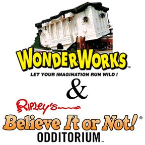 Tour the house falling into a Florida sinkhole and the house that is the result of science experiment gone awry! Ripley's Believe it or Not Odditorium and Wonderworks are on opposite ends of International Drive, but are brought together with our Open House Tour.  See them both in one day with a pedicab ride included!