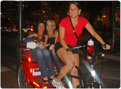 See the sights of International Drive with a Redi Pedi pedicab tour.  Your personal driver will serve as your tour guide as your are whisked away along International Drive to see the sights on this would famous strip.